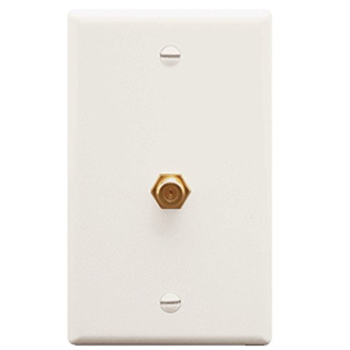 WALL PLATE, F-TYPE, WHITE F-type Wall Plate
