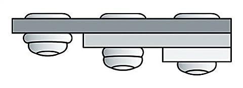 Poly Grip Mehrbereichsniete Flachrundkopf 4.8 x 15 mm, Aluminium mit Stahldorn, 500 Stück,1433832
