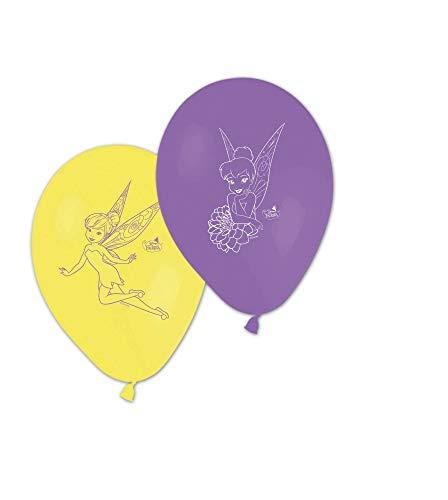 Generique - 8 Bedruckte Ballons Tinkerbell