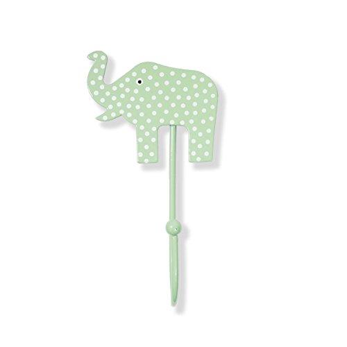 LA Perchero Perchero Elefante Verde (Pared Ganchos, diseño)