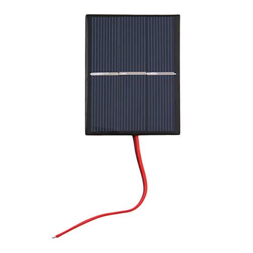 LoveOlvidoD 0.65W 1.5V 300mA polykristalline Silikon-Sonnenkollektor-Mini- Solarzellen-Ladegerät-Platten-DIY Solarzellen mit Draht-Kabel