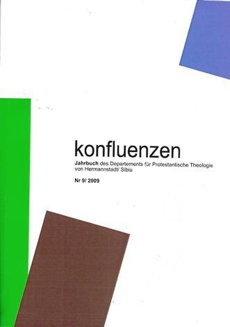 Konfluenzen Nr. 9/2009 - Jahrbuch des Departements fr Protestantische Theologie der
