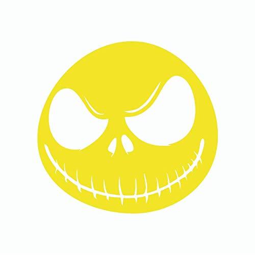 Ga-yinuo Cauchemar Avant De Noël Jack Vinyle Wall Sticker Funnny Halloween Sticker Mural Pour Chambre Salon Décor À La Maison 14X15Cm Yellow