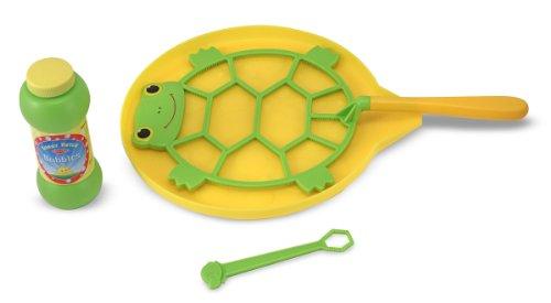 Melissa & Doug - Schildkröten-Seifenblasenset mit Seifenlauge