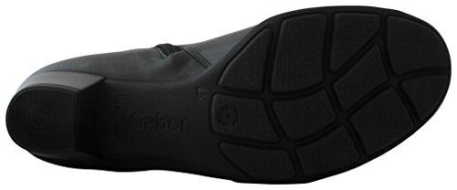 Gabor Fashion 35.637 Damen Stiefel/Stiefelette (Ankle Boots) mit Reißverschluss Leder gefüttert Schwarz