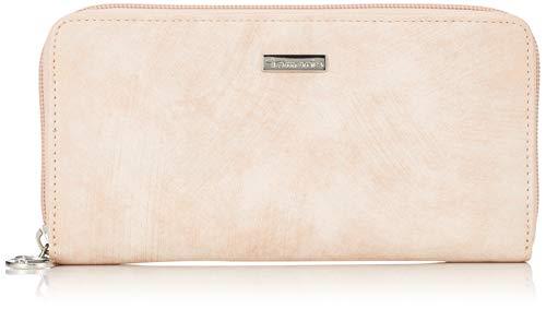 Tamaris Damen Elsa Big Zip Around Wallet Geldbörse, Pink (Rose Comb.) 2x10x19,5 cm