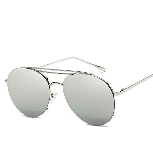 MJ Glasses Sonnenbrillen Metallpersönlichkeitsdamen koreanische Version von Meeresfilmquellengläsern, E