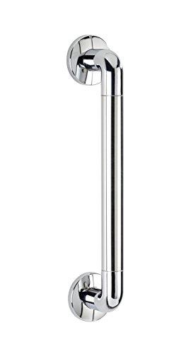 WENKO 22098100 Wandhaltegriff Secura Chrom 43 cm, Bad-Sicherheitsgriff für Badewanne oder WC, Aluminium, 43 x 7 x 8 cm, Chrom