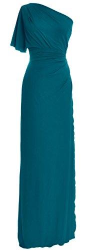 MACloth - Robe - Trapèze - Femme bleu sarcelle