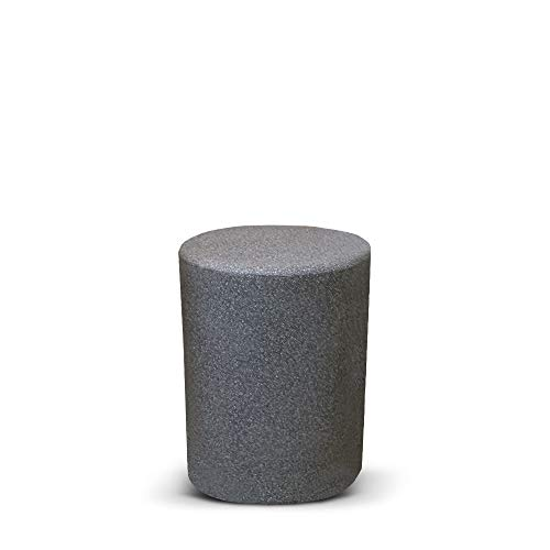 Sereno Shower Easy Bathroom Stool Made From High grade UV Stabilized Polymer -Height 40 Cm, Color - Dark Grey Stone Finish