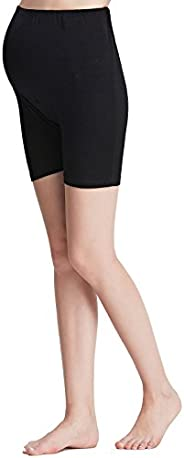 Liang Rou Maternity Belly Support Mini-Ribbed Stretch Safety Short Leggings