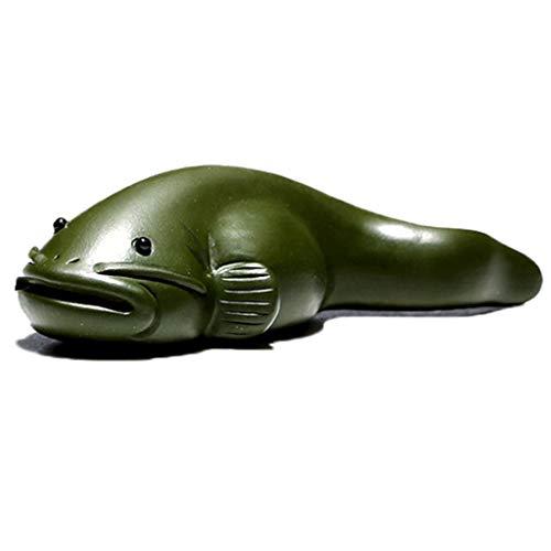 behör Wohnaccessoires Fisch Ornamente Original Mine lila Sand Tee Zeremonie Zubehör Tintenfisch Tee Spielen kleine Tee Haustier (Color : Green, Size : 2.8 * 10.3CM) ()
