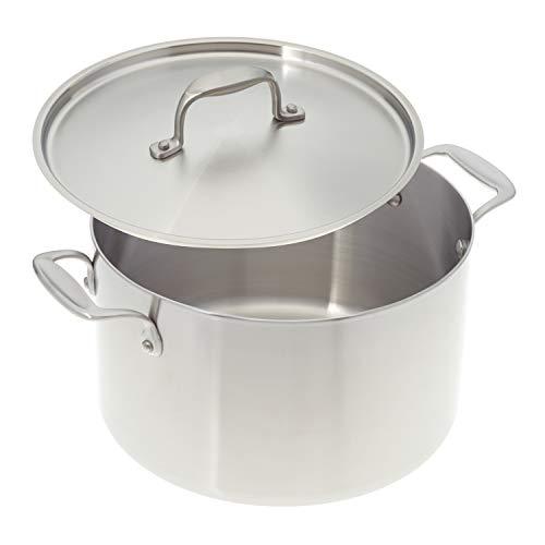 American Küche Kochgeschirr 8-quart Premium Edelstahl Suppentopf mit Bezug; Tri-Ply Edelstahl; Hergestellt in USA (8qt Suppentopf)