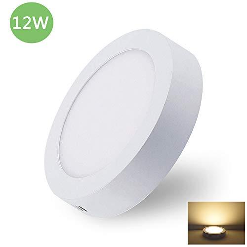 Deckenleuchte Rund 12W LED Deckenlampe Wandlampe Wandleuchte 3000K Warmweiß für Küche, Flur, Keller (Nicht Dimmbar) -