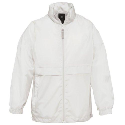 Sirocco Kollektion (B & C Kollektion Sirocco Kinder Windbreaker Jacke Gr. Alter 3/4, weiß)