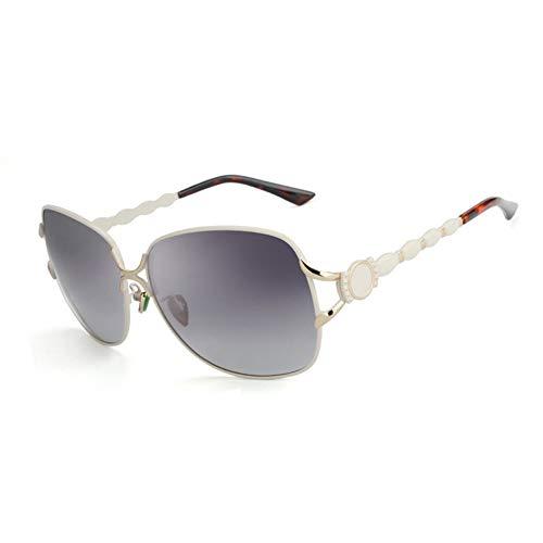 YongFeng Neue Damen-Sonnenbrille Polarized Sunglasses Fashion Quality (Farbe : White Frame)