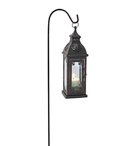 Laterne mit Laternenstab, Windlicht für Kerze oder Teelicht + Stab/110 cm