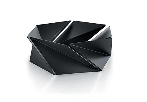 Alessi NS02 B Korb Stahl, farbig mit dem Epoxyde, Schwarz (Metall-schale Tafelaufsatz)
