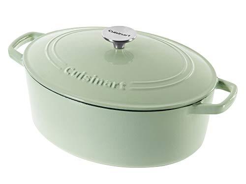 Cuisinart Chef's Classic Gusseisen emailliert 5,2 l, ovale Auflaufform 5.5 Quart mintgrün