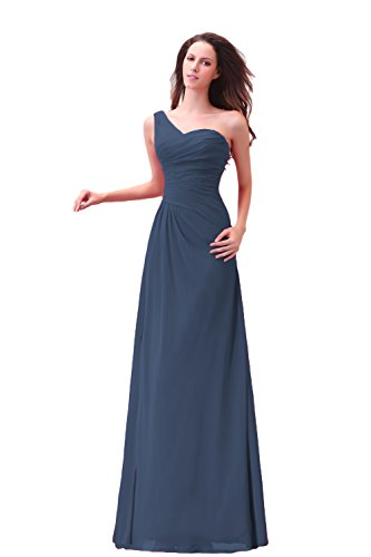 Bridal_Mall - Robe - Sans Manche - Femme Bleu - Bleu marine