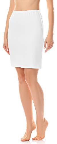 Merry Style Unterrock Petticoat für Röcke MS10-204 (Weiß, XL (Herstellergröße: 42))