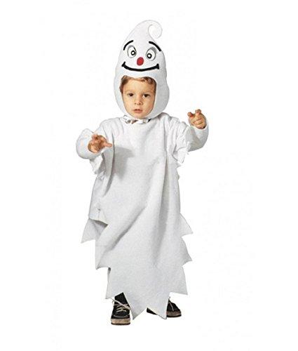 Größe 104-2 - 3 Jahre - Kostüm - Verkleidung - Karneval - Halloween - Ghost Casper - Farbe Weiß - Unisex - Kinder
