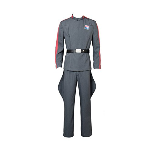 Karnestore Star Wars Imperial 181st Tie Fighter Wing Pilot Officer Uniform Cosplay Kostüm Grau Herren XS