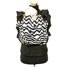 Cookiie Soft Structured Baby Carrier Chevron Twist on Bold Black (EMBRACE)