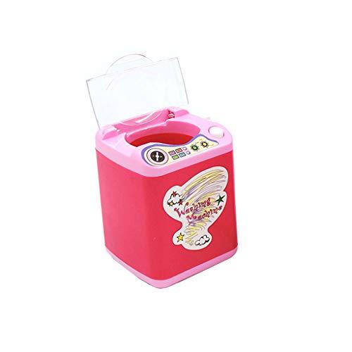 Detergente Per Pennelli Per Trucco, Webla, Dispositivo Per La Pulizia Automatica Lavatrice Mini Giochi E Sbuffo, Plastica Rosa Calda