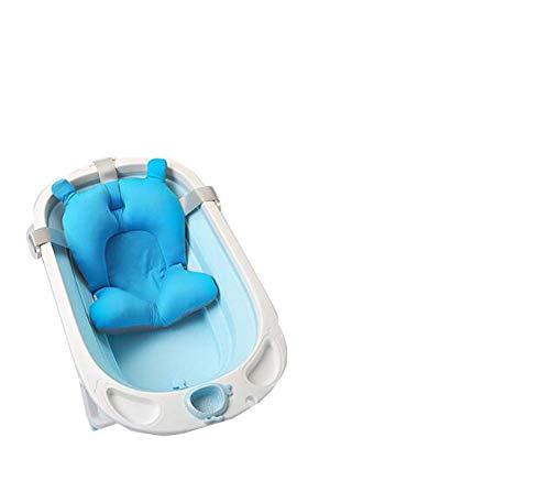 Terry King Baby-Wanne Kann Lie-Baby-Bad Falten Universelle Neugeborene Große Kinder Bad Fass Baby-Produkte,Blue,C (Falten Baby Wanne)