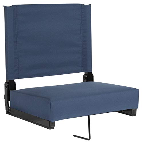 Flash Furniture Grandstand Comfort Seats by Flash with Ultra-Padded Seat in Navy Blue - XU-STA-Navy-GG