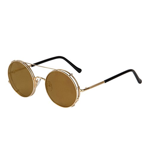 LIANSAN fashion retro steam punk glasses round - shaped women 's men 's sunglasses LS8168(brown) steampunk buy now online