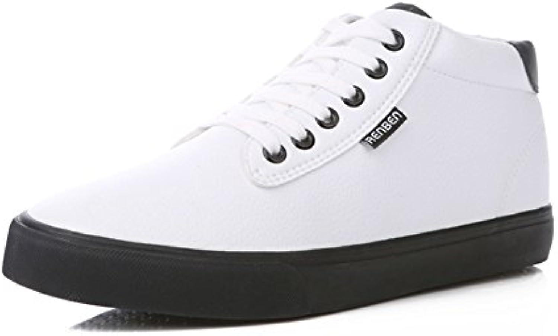 YIXINY Schuhe 7505 Flache Schuhe Der Neuen Art Und Weise Der Winterbaumwollstiefel Männer ( Farbe : Weiß   größe