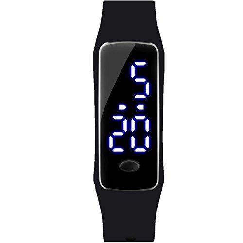 Student Uhren Jungen Kinder Uhren Mädchen Sport Wasserdicht Armbänder Elektronische Uhren,Black (Herren-uhren Mit Gesicht Orange)
