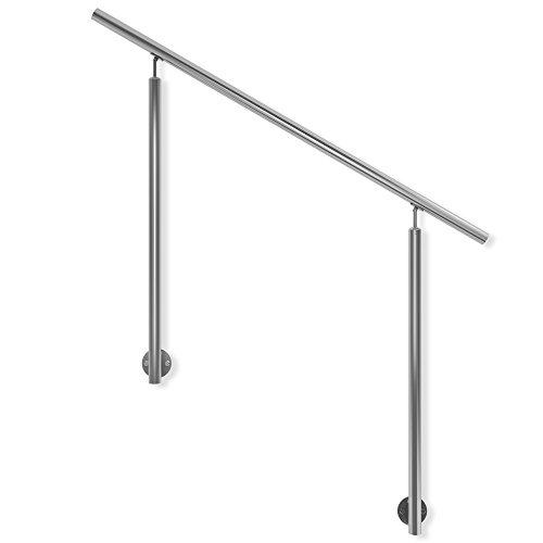 1,50 m Gel/änder-Set aus Aluminium mit Handlauf aus Buche und Gel/änderst/äben aus Edelstahl F/ür seitliche Montage Als Treppengel/änder oder Br/üstungsgel/änder im Innenbereich geeignet.