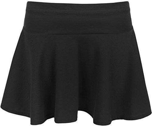 WearAll - Damen Plain Kurz Ausgestelltes Minirock - 4 Farben - Größen 36-42