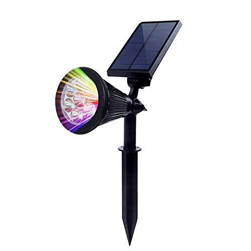 Projecteur solaire 7 LED 330 lm 7 couleurs - Éclairage solaire voiture/off - 2 en 1 - Lampe solaire réglable - Lampe de jardin - Paysage - Éclairage extérieur