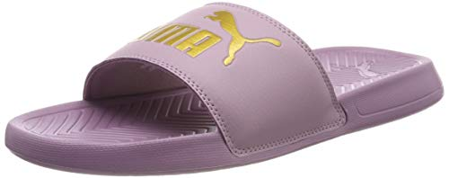 PUMA Popcat Slide Badeschuhe Elderberry-Puma Team Gold 8