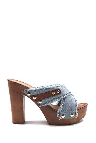 CHIC NANA . Chaussure Femme Mode Sandale sabot jeans à talon.
