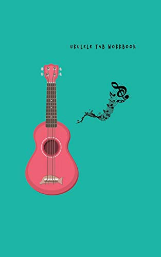 Ukulele Tab Workbook: Composition and Songwriting Ukulele Music Song with Chord Boxes and Lyric Lines for Beginners or Musician Green Cover and Red Ukulele Theme - Cord-a-line-top