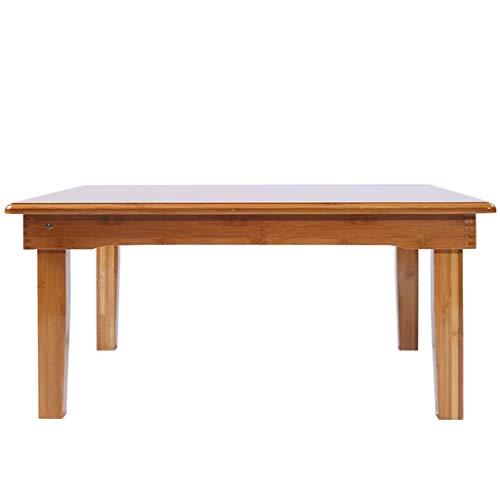 Tables basses Pliante Simple en Bambou Tatami Petite Mini Chambre à Coucher Petit Appartement (Color : Wood, Size : 70 * 50 * 25cm)