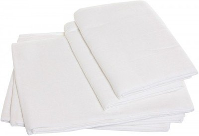 Tiny Care Nappi Square White - Pack Of 5. Medium Size