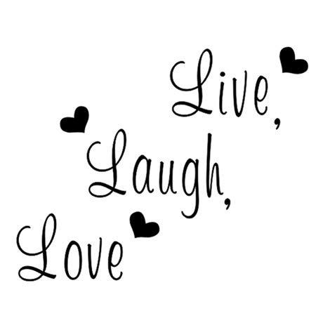 rire aime vivre l'art déco décalques autocollants
