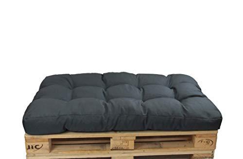 HERLAG Palettenkissen Basic (Sitzpolster, Farbe graphit, UV beständig, pflegeleicht, Maße 120x80x15 cm,) P207020-2179