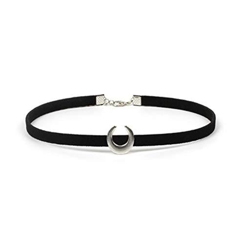 JZTRADING Choker Kragen Halskette Cool Einstellbare Anhänger Mond Gothic Shine Anhänger Halskette Für Damen Mädchen Frauen Party ()