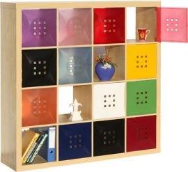 Designer Regaltür als Facheinsatz ca. 33,6cm x 33,6cm für IkeaRegal expedit * Weiß