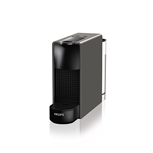 Nespresso Krups Essenza Mini - Cafetera, potencia 1450 W, color gris intenso