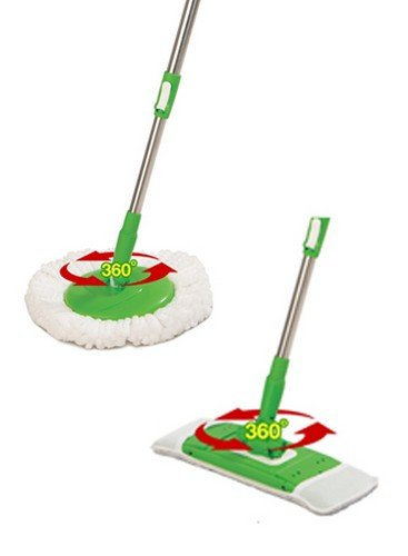 Scotch-Brite-Jumper-Spin-Mop-with-Round-and-Flat-Heads-with-Refill