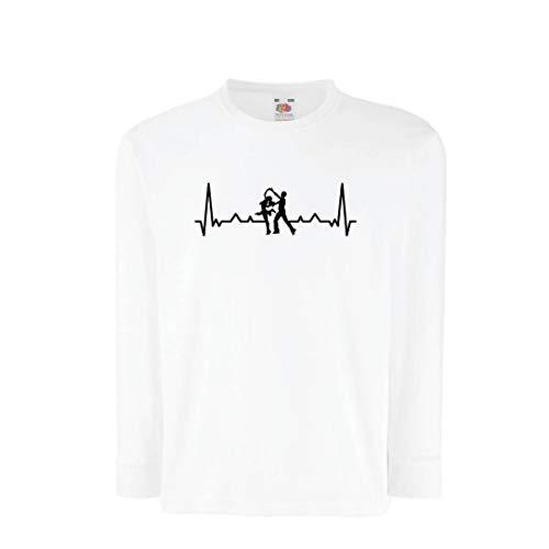 lepni.me Kinder-T-Shirt mit Langen Ärmeln Tanzen mit Herzschlag, Tanz-Liebhaber-Shirt, Tänzer-Outfit (9-11 Years Weiß Mehrfarben)
