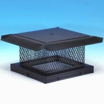 Chimney 14705 HomeSaver Black Chimney Cap - .625 Inch Mesh - 8 Inches x 17 Inches by Copperfield Chimney Supply